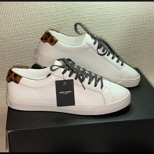 Saint Laurent Andy Low Top Sneakers White 37.5size